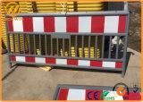 Le trafic routier temporaire Clôture Barrière de sécurité en plastique pour la construction de routes