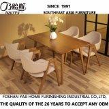 Última mesa de comedor de madera sólida moderna para muebles de casa (D12)