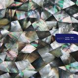 Mosaico de Mãe de Pérola de Mop de Mop preto de Design Luxo para Muro de Decoração