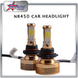 Super helle 4 Seiten LED mit Scheinwerfer des Ventilator-H4 H13 LED für Scheinwerfer-Birne des Auto-Motorrad PFEILER Chip-LED 50W hohe niedrige des Träger-LED