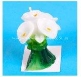Candela profumata a forma di della decorazione del fiore, candela della paraffina