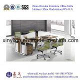 Деревянная таблица офиса штата ног металла рабочей станции офиса (WS-01#)