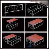 Fase portátil de madeira de alumínio pernas ajustáveis da plataforma