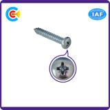 DIN/ANSI/BS/JIS Carbon-Steel/Stainless-Steel Pan/4.8/8.8/10.9 Cruz Galvanizado Parafuso Autoatarraxante para a Estação Ferroviária de construção