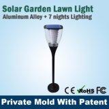 Luz solar de la puerta del pilar de la iluminación del jardín del LED