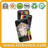 아이를 위한 착색된 연필 주석 상자, 금속 주석 문방구갑