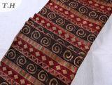 Tissu de canapé jacquard en chene rouge festif produit par China Factory