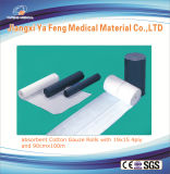 O rolo da gaze, papel de embalagem Embalou, absorvente, rolo médico da gaze