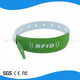 Wristband de papel al por mayor de Customed RFID para el hospital