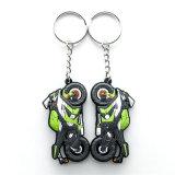 Promoção Customized Motorcycle EVA Key Chain