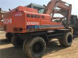 Excavador usado de la rueda de Hitachi Ex100wd-1, excavador Ex100wd-1 de la rueda de Hitachi