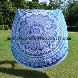 Comercio al por mayor impresas algodón círculo redondo Toalla de playa con una alta calidad
