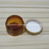 Embalagem de cosméticos Pet Plástico Âmbar Copo com tampa de Bambu (PPC-BS-053)