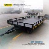空港倉庫の使用の手荷物の平らなトレーラー