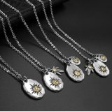 Titanium Steel Necklace Pendiente 4 Design Star Accesorios de moda