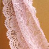 Модный черный флористический сетчатый шнурок вышивки