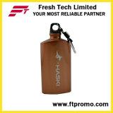 Botella de aluminio del triángulo promocional creativo del regalo con insignia