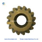 Engranaje de cobre de la precisión del CNC de Customed que trabaja a máquina