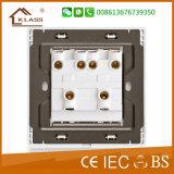 Comercio al por mayor de la palanca de cuatro interruptores de pared doble camino