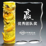 Premio del trofeo di cristallo di figura del libro per il ricordo
