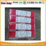 2016 China Pañales de proveedor fabricante de tela nueva como la magia de las cintas pañales desechables de bebé