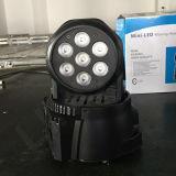 7PCS 12W RGBW LED de la viga principal móvil de la luz del disco