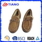 Manera y zapatos micro calientes de la PU del ante para el hombre (TNK36011-15)