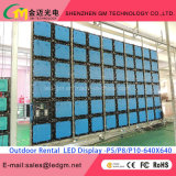 Afficheur LED/écran polychromes extérieurs de Digitals de vente chaude pour la location