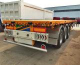 20/40 Voet 3 Semi Aanhangwagen van de Container van het Bed van Assen de Vlakke