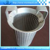 Cilindro perforado del filtro de acoplamiento de alambre del acero inoxidable