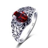 Nuevo diseño de Ruby 925 Anillo de joyas de plata