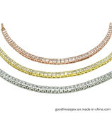 3A白人CZ (BT6553)のBling 925の純銀製Bracele