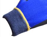 Перчатки зимы работая при 3/4 покрынное с черным нитрилом Sandy на ладони (N1612)