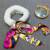 Hot Sale Écharpe de fourrure de renard réel avec des rubans Neckerchief