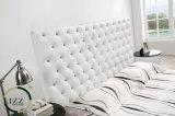 Современный дизайн Честерфилд двойные кровати из натуральной кожи