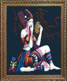 Figure numériques populaires la jeune fille de bricolage Peinture d'huile