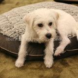 Colchón hecho a mano redondo del perro del gato de la base del animal doméstico del OEM