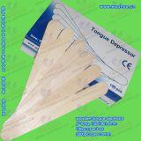 Depresor de lengua de madera (espátula desechable, Bajalenguas)