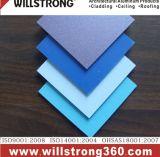 Panneau composite en aluminium mur-rideau couleur solide