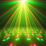 Estágio do disco do equipamento do DJ que ilumina o laser verde