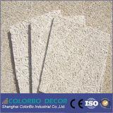 Panel de pared acústico de fibra de lana de madera restaurante Interior
