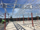 El profesional diseñó de la azotea del pabellón de la estructura de acero con el panel de PIR