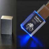 水晶USBのフラッシュ駆動機構3Dレーザーの彫版