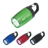 Kundenspezifisches Fackel-Licht des Aluminium-LED mit Carabiner