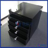 Acrílico cosmético preto feito-à-medida do organizador da alta qualidade