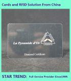 Cartão de descontos feitos de plástico com tarja magnética