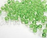 Transparante acrylronde kralen groen (AB1SB030003)