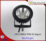 linterna negra o blanca del CREE 25W de Pi68 LED para el coche