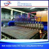 Máquina que bisela del corte del plasma del CNC del pórtico para la hoja de metal y la placa de acero
