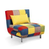 Modernes Einzelsitz-Gewebe gefaltetes Sofa-Bett
